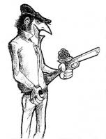 VIGNETTA Un mafioso siciliano stringe nel pugno, insieme alla lupara, la rosa radicale. La vignetta, firmata Roberto Goldoni, è apparsa sulla rivista