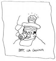 VIGNETTA Il dottor La Canna fuma una sigaretta di hascish. La Canna è uno dei giudici delle sezioni unite della Cassazione, autore di una sentenza per