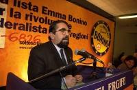 Assemblea dei Radicali all'hotel Ergife di Roma, per la presentazione alle regionali delle liste radicali Emma Bonino. Ritratto di Mario Baldassarri,