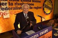 Assemblea dei Radicali all'hotel Ergife di Roma, per la presentazione alle regionali delle liste radicali Emma Bonino. Ritratto di Marco Pannella alla