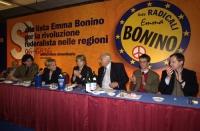 Assemblea dei Radicali all'hotel Ergife di Roma, per la presentazione alle regionali delle liste radicali Emma Bonino. Campo totale della presidenza.