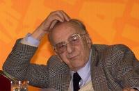 Assemblea dei Radicali all'hotel Ergife di Roma, per la presentazione alle regionali delle liste radicali Emma Bonino. Ritratto di Sergio Stanzani.. A