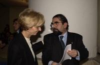 Assemblea dei radicali all'hotel Ergife, in vista della presentazione della lista Bonino alle regionali. Emma Bonino e Mario Baldassarri.