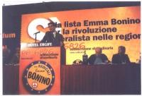 Assemblea dei radicali, in occasione della presentazione alle regionali delle liste radicali Emma Bonino. Olivier Dupuis alla tribuna.