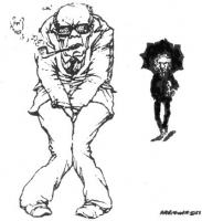 VIGNETTA Sandro Pertini fa un gesto scaramantico, mentre dal fondo avanza Marco Pannella vestito completamente di nero. La vignetta, firmata Fremura,