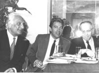 Pannella e Teodori durante una conferenza stampa all'Hotel Nazionale (BN)