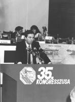 35° congresso  Giorgio Pagano (esperanto) parla dalla tribuna (BN)