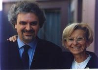 Danilo Quinto (candidato della lista Bonino alla presidenza della regione        ) insieme ad Emma Bonino.
