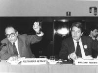 Alessandro Tessari e Massimo Teodori ad un consiglio federale del PR (BN)