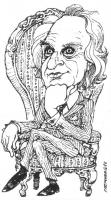"""VIGNETTA Marco Pannella in gessato siede su un'autorevole poltrona. La vignetta, firmata Fremura, uscita sul quotidiano """"La Nazione"""", si riferisce pre"""