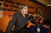 Assemblea dei Radicali all'hotel Ergife di Roma, per la presentazione alle regionali delle liste radicali Emma Bonino. Ritratto di Rita Bernardini, in