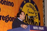 Assemblea all'hotel Ergife in vista della presentazione alle regionali della lista Bonino. Ritratto di Mimmo Pinto, alla tribuna.