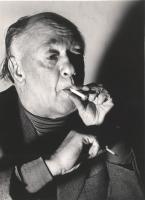 Eugene Ionesco (BN) ottima 479bis: Ionesco, mentre parla,