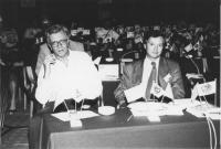 Assemblea dei deputati del PR di Sofia. Vista della platea. In primo piano Paolo Vigevano e Ottavio Lavaggi (PRI)  (BN)