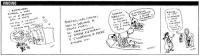 VIGNETTA Tre vignette affiancate di Vincino. Nella prima, durante il sit-in dei referendari davanti a Palazzo Chigi, nella notte si levano i fantasmi