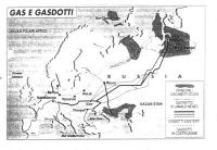 Ritratto della Cecenia, nella quale si indica la localizzazione dei gasdotti.