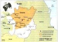 Cartina della Cecenia.