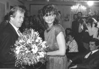 Il presidente della Cecoslovacchia Vaclav Havel riceve una delegazione del PR. (BN) si distinguono Negri e Bertè. Importante