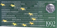 Retro della tessera di iscrizione del 1992 al Partito Radicale.