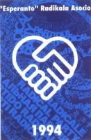 """Tessera di iscrizione del 1994 alla """"Esperanto"""" Radikala Asocio."""