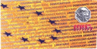 Retro della tessera di iscrizione del 1995 al Partito Radicale.