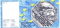 Tessera di iscrizione del 1997 al Partito Radicale, firmata dal presidente onorario Bruno Zevi, dal presidente Jean-François Hory, dal segretario Oliv