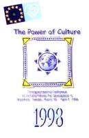 """Tessera di iscrizione del 1998 all'ERA (Associazione radicale esperantista).  Testo: """"The power of culture - Intergovernmental Conference on Cultural"""