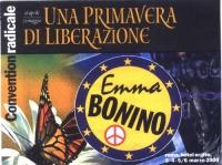 """Convention radicale all'hotel Ergife di Roma. """"16 aprile  21 maggio. UNA PRIMAVERA DI LIBERAZIONE"""". Cartellino di ingresso."""