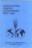 Tesserino dell'Associazione contro lo sterminio per fame. Simbolo: l'emisfero del globo su cui si trova l'Italia, e l'emisfero su cui si trova l'Afric