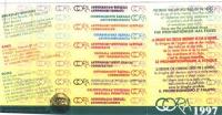 Retro della tessera di iscrizione del 1997 al Cora (Coordinamento Radicale Antiproibizionista) (dicitura  riprodotta in otto lingue). A fianco, in tre