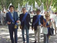 Partecipazione radicale al World Gay Pride. Gli europarlamentari Marco Cappato, Benedetto Della Vedova, Maurizio Turco, Emma Bonino, alla testa della