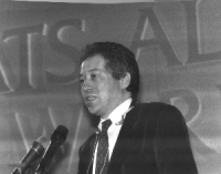 Marco Taradash, alla tribuna del 36° Congresso del PR.