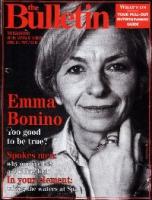 """Copertina del settimanale """"The bulletin"""", con Emma Bonino."""