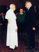 Incontro fra papa Giovanni Paolo II, Emma Bonino e Marco Pannella.
