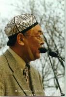 """Erkin Alptekin  (East Turkestan), segretario Generale dell'Organizzazione delle Nazioni e dei Popoli Non-rappresentati (UNPO), alla manifestazione """"Li"""