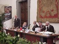Conferenza intergovernativa europea sullo statuto di Roma della corte penale internazionale, presso la Sala della Protomoteca in Campidoglio. Da sinis