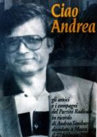 manifesto di commemorazione di Andrea Tamburi deceduto a Mosca.