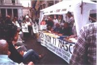 """Largo Chigi. Conferenza stampa di Marco Pannella e Paolo Vigevano su """"Radio Radicale e libertà di informazione"""" (nell'ambito della campagna per il rin"""