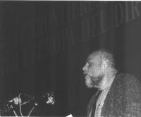 34° Congresso del PR. Sergio Staino, alla tribuna.