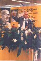 32° Congresso del PR. Marco Pannella, alla tribuna.