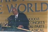 Marco Pannella, alla tribuna del 36° Congresso.