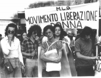 Manifestazione del Movimento di Liberazione della Donna.