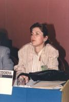 """"""" Elena Poptodorova. Deputato (Bulgaria) al 36° congresso PR con cartellino """"""""iscritta"""""""".ottima"""""""