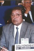 """""""Aitbai Konishbaev. Deputato (Kazakistan) al 36° congresso PR con cartellino """"""""iscritto""""""""."""""""