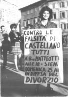 Manifestazione antidivorzista della Lid, contro monsignor Castellano l'arcivescovo di Siena, e gli altri vescovi e prelati che hanno con lui firmato u