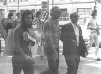 Marcia antimilitarista Trieste-Aviano. Gruppo con Marco Pannella. Ultimo a destra: Zeno Zencovich. In secondo piano, alla destra di Pannella, Marino B