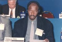 """""""Babacar Fall (Senegal) al 36° congresso PR con cartellino """"""""iscritto"""""""""""""""