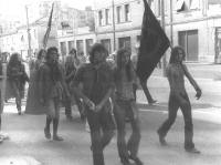Marcia antimilitarista.