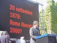 Manifestazione anticlericale a porta Pia, nella ricorrenza del 20 settembre. Alla tribuna: ????