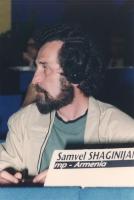 """""""Samvel Shaginijan. Deputato (Armenia) al 36° congresso PR con cartellino """"""""iscritto""""""""."""""""